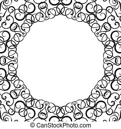 Formality circular devices of border frames Vector...