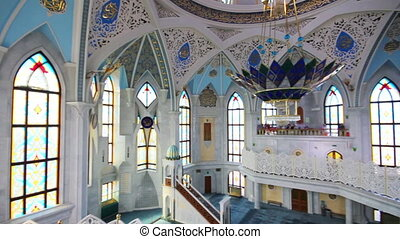 interior of kul sharif mosque - kazan russia