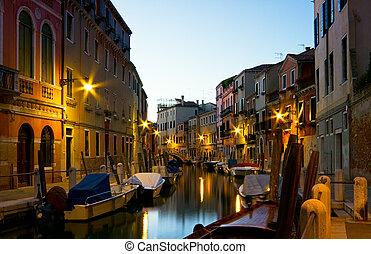 Night in Venice.