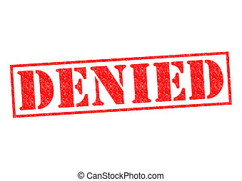 DENIED Rubber Stamp over a white background.