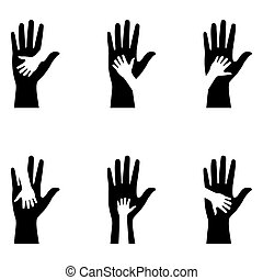 silhouettes hands