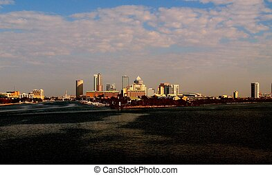Tampa Skyline - Beautiful scene of Tampa, Florida skyline...