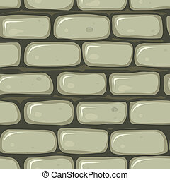 Seamless Stone Wall - Illustration of a seamless cartoon old...