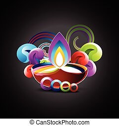 colorful diwali design