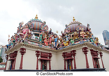 Detail of Sri Mariamman temple in Singapore