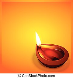 happy diwali - vector diwali festval diya with space for...