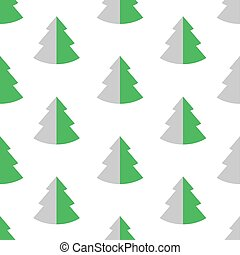 Seamless pattern with fir. Vector illustration.