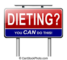Dieting concept. - Illustration depicting a sign with a...