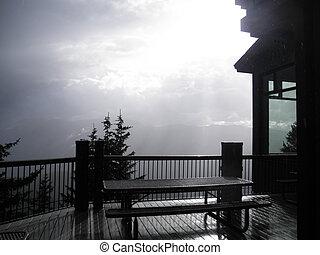 Misty Mountain Retreat - Rain mist on Aspen mountain