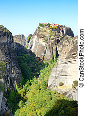 View on the The Holy Monastery of Great Meteoron, Meteora,...