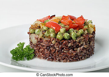 brown rice - A delicious brown rice with vegetables and...