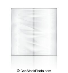 Toilet paper package. - White toilet paper package with...