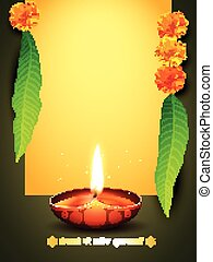 diwali greeting design - vector diwali greeting with space...