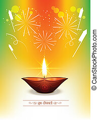 happy diwali background - indian happy diwali vector design