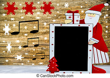 Santa Claus with blackboard