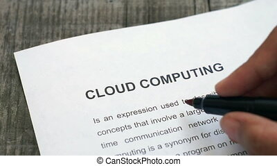 Circling Cloud computing - A person Circling Cloud computing...