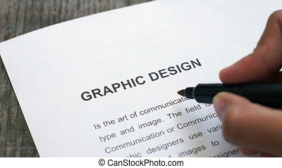 Circling Graphic Design - A person Circling Graphic Design...