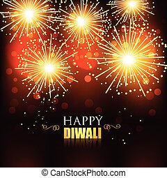 happy diwali fireworks - beautiful happy diwali fireworks...