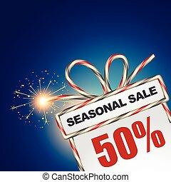 säsongbetonad, försäljning, rabatt