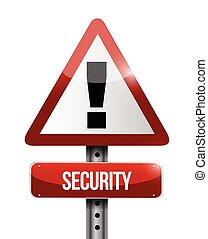 security warning road sign illustration design