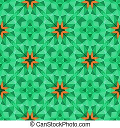Multicolor geometric pattern in bright green. Vector...