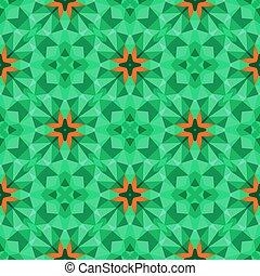 Multicolor geometric pattern in bright green. Vector...