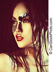 seamaiden - Portrait of an asian model with fantasy make-up...