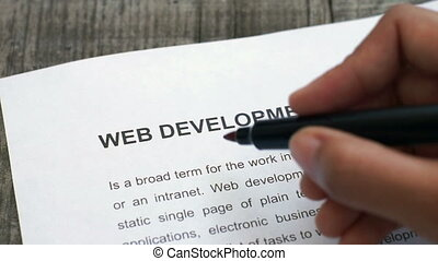 Circling Web Development - A Person Circling Web Development...