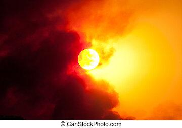 Sunset sun focus
