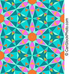 Multicolor geometric pattern in bright color. - Texture for...