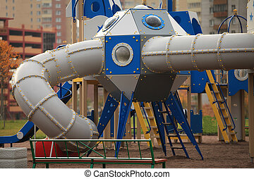 spaceship - The gaming spaceship   in the playground
