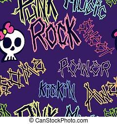 Girly Punk Rock Pattern - A punk styled seamless pattern...