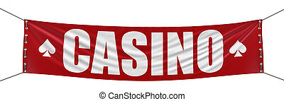 Casino Banner  - Big casino Banner. Image with clipping path