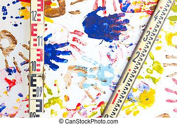 多色刷り,  Handprints