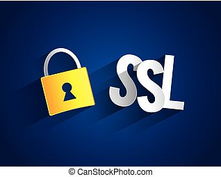 Creative abstract SSL vector illustration