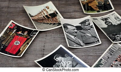 Nazi Cigarette Cards - A dolly shot of Nazi Cigarette Cards...