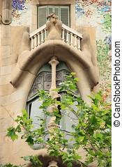 BARCELONA - MAY 08: The facade of the house Casa Batllo...