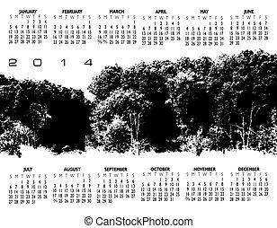 2014 Creative Landscape Calendar for Print or Website