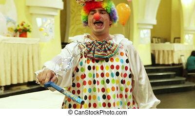 Magic Wand - Clown performs magic wand