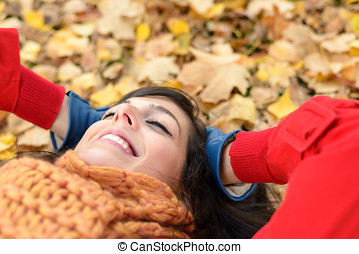 Relax and peace on happy autumn