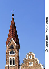 Christuskirche, famous Lutheran church landmark in Windhoek,...