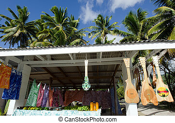 Tropical Souvenir Shop - RAROTONGA - SEP 21:Handmade...