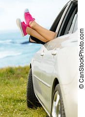 Car travel freedom and relax - Car travel vacation and relax...
