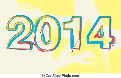 Chinese Calligraphy 2014 - Year of the Horse vector art