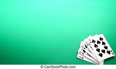 Poker - Stop Motion Animation of poker chips, cards, and...