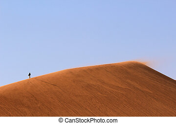Sossusvlei sand dunes landscape in the Nanib desert near...