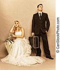discordia, pareja, casado, problema, Indiferencia, depresión