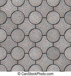 Figured Pavement. Seamless Tileable Texture. - Gray Round...