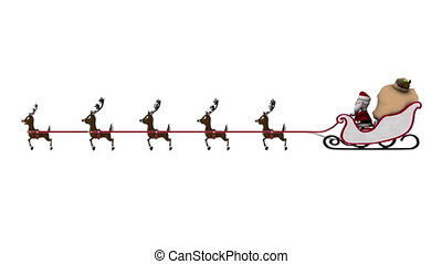 Santa Claus and reindeer - image of Christmas