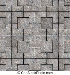 Paving Slabs Seamless Tileable Texture - Gray Square...